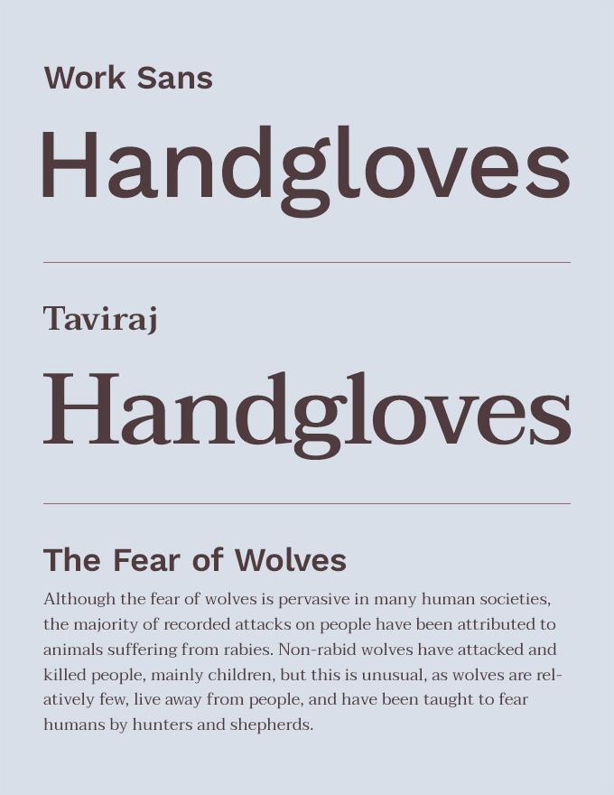 Work Sans & Taviraj