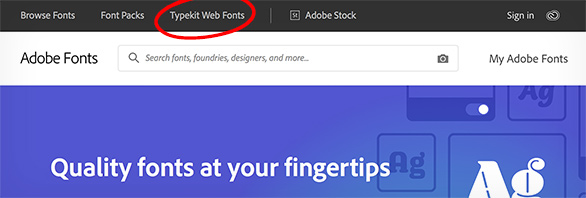 Typekit web fonts