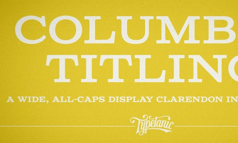 Columbia Titling Font Sample