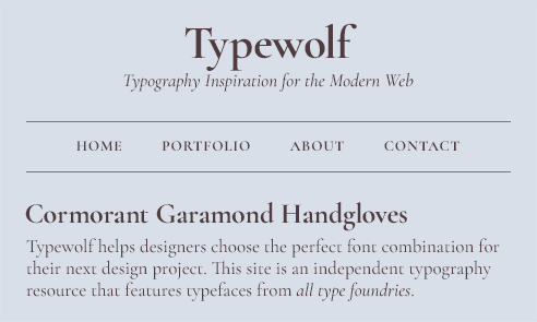 Cormorant Garamond Font Sample