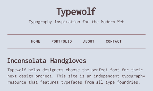 inconsolata font