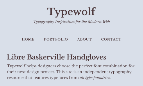 Libre Baskerville Font Sample
