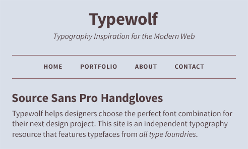 Source Sans Pro Font Sample