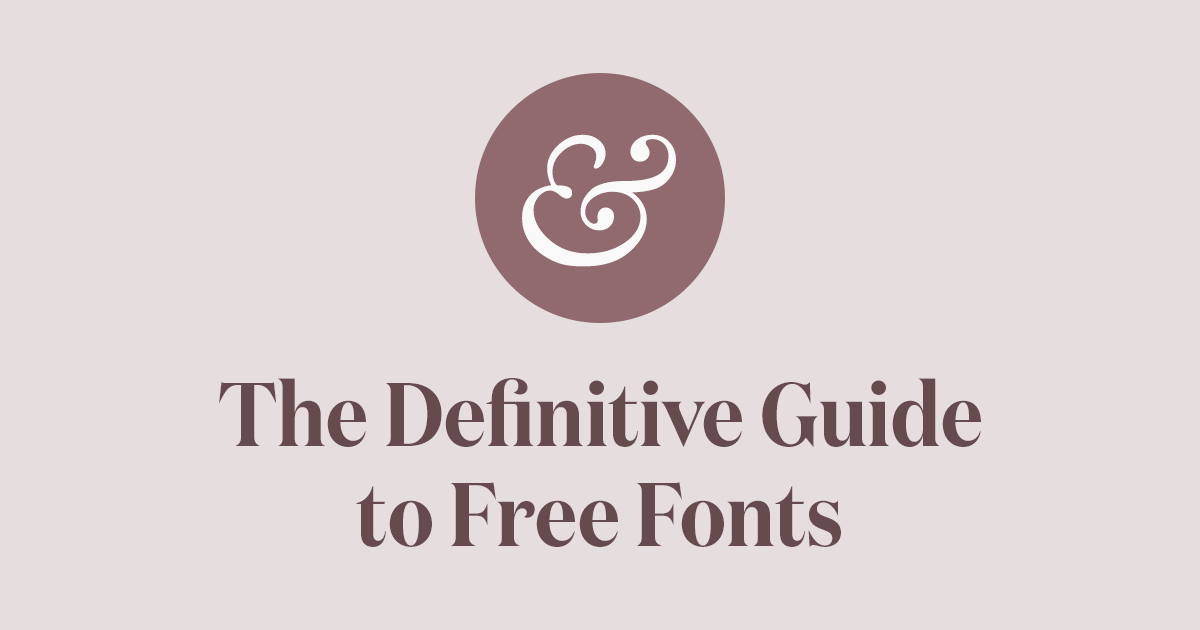 The Definitive Guide to Free Fonts · Typewolf