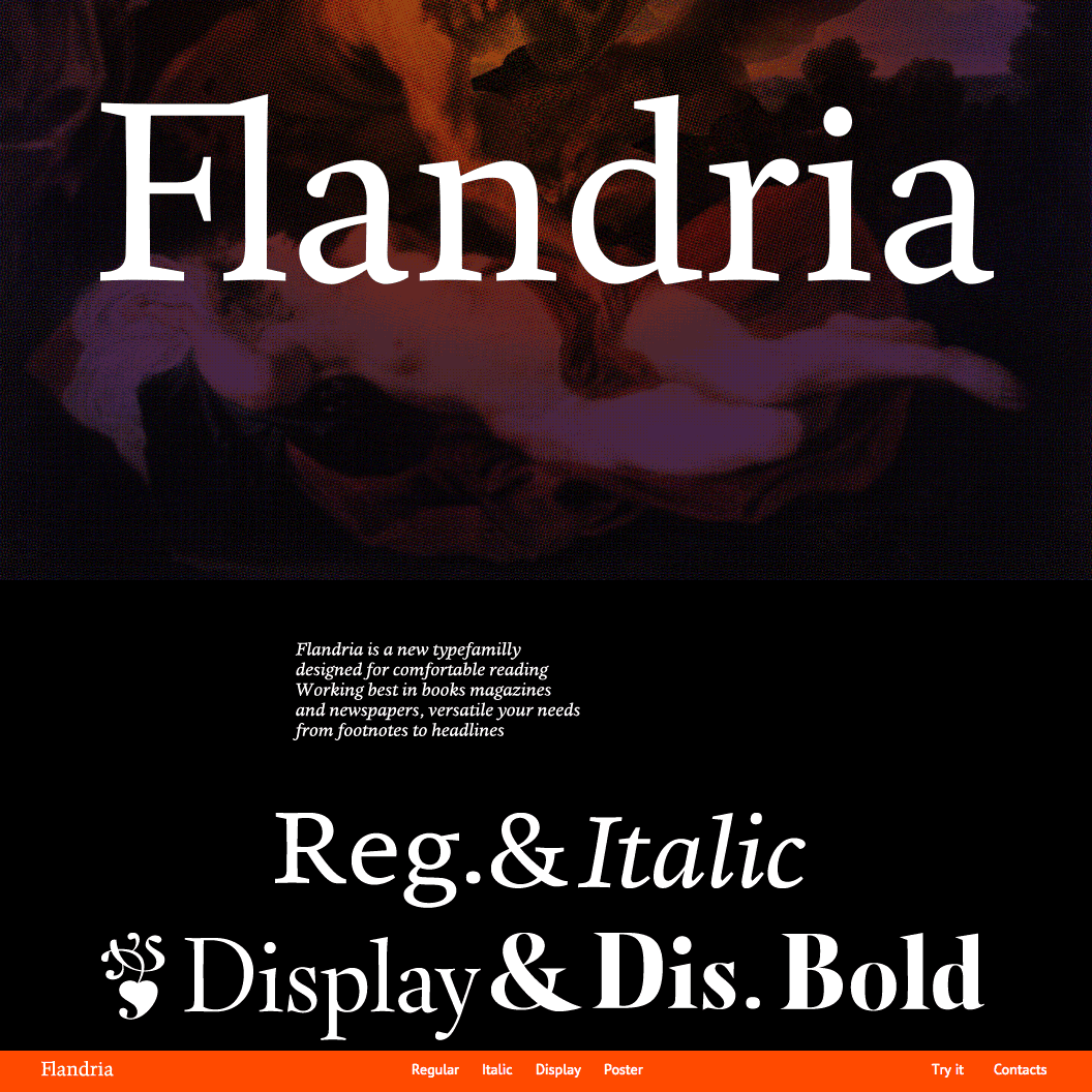 Fonts Used: Flandria and PT Sans · Typewolf Typography Inspiration