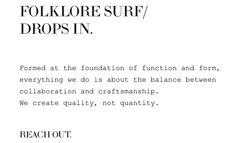 Playfair Display, Courier, and Proxima Nova Font - Folklore Surf