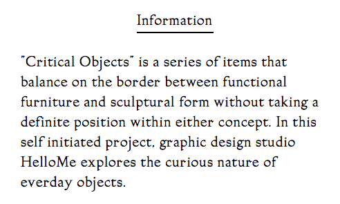 Critical Objects