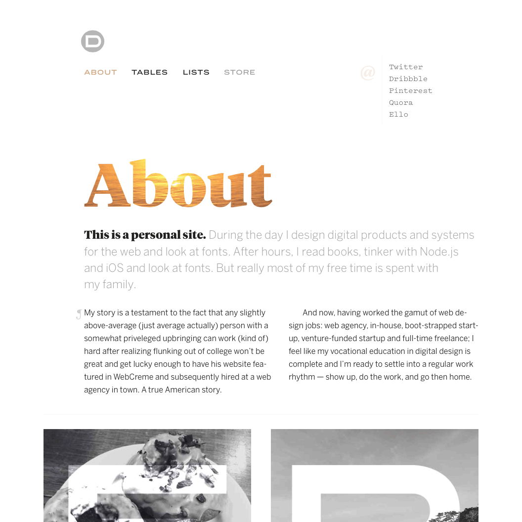 Fonts Used: Tiempos Headline, Benton Sans, and Pitch · Typewolf Typography Inspiration