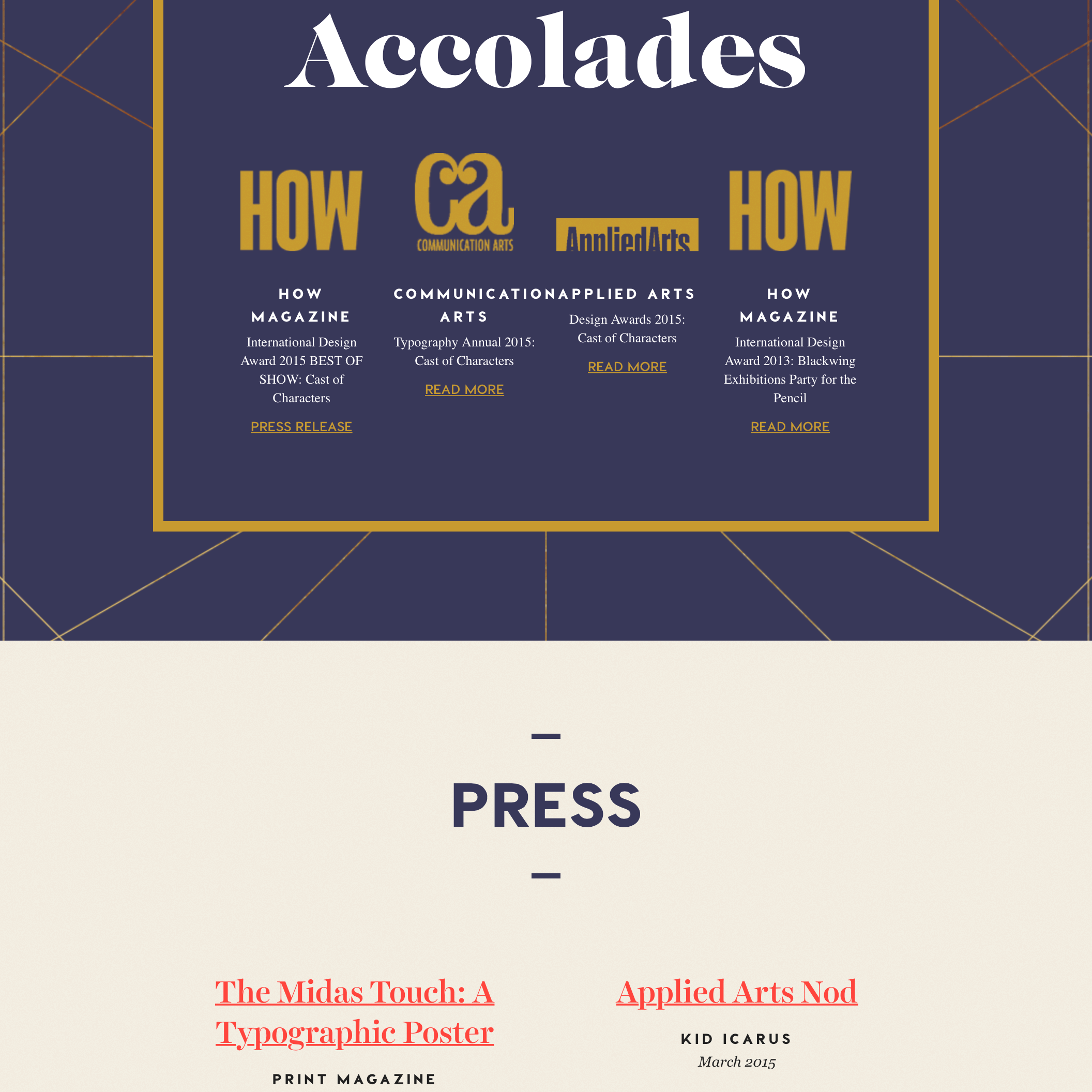 Fonts Used: Caslon Graphique, Visby CF, Harriet, and Georgia · Typewolf Typography Inspiration