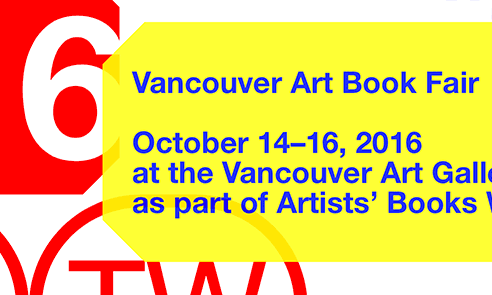 2016 Vancouver Art/Book Fair
