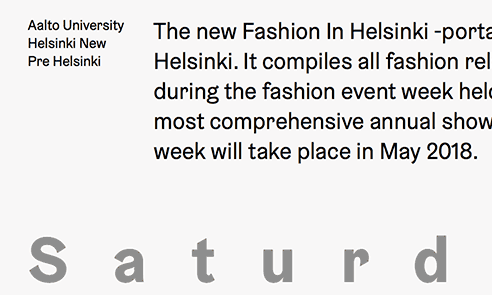 Fashion in Helsinki