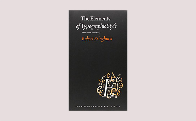 The Elements of Typographic Style book cover